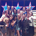 Emma Bunton, Jamie Theakston and the Heart FM Breakfast team with the cast of VIVA FOREVER! #VivaForever