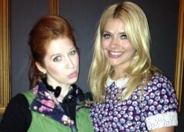 Minty (Hatty Preston) with Holly Willoughby